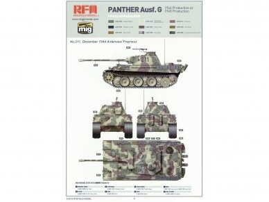Rye Field Model - Panther Ausf.G with Full Interior & Cut Away Parts, Scale: 1/35, RFM-5019 20