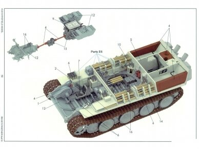 Rye Field Model - Panther Ausf.G with Full Interior & Cut Away Parts, Scale: 1/35, RFM-5019 22