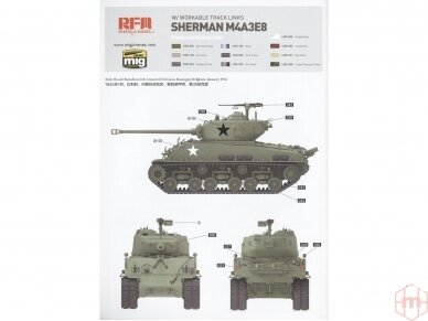Rye Field Model - M4A3 76W HVSS Sherman With full interior and workable track links, Scale: 1/35, RFM-5042 12