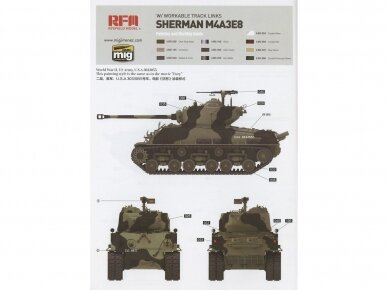Rye Field Model - M4A3 76W HVSS Sherman With full interior and workable track links, Scale: 1/35, RFM-5042 14