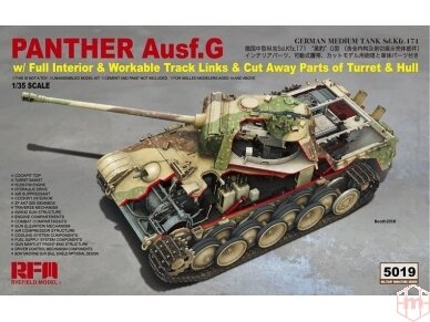 Rye Field Model - Panther Ausf.G with Full Interior & Cut Away Parts, Mastelis: 1/35, RFM-5019