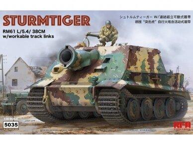 Rye Field Model - Sturmtiger w/Workable Track Links, Scale: 1/35, RFM-5035