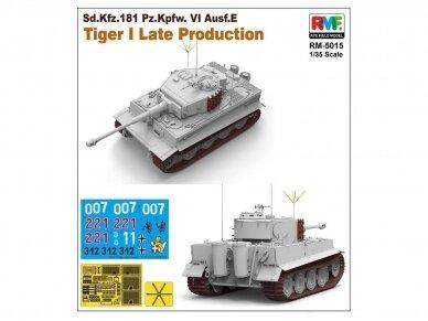 Rye Field Model - Sd.Kfz. 181 Pz.kpfw.VI Ausf. E Tiger I Late Production, Mastelis: 1/35, RFM-5015 3