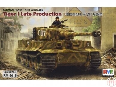 Rye Field Model - Sd.Kfz. 181 Pz.kpfw.VI Ausf. E Tiger I Late Production, Mastelis: 1/35, RFM-5015
