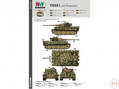 Rye Field Model - Sd.Kfz. 181 Pz.kpfw.VI Ausf. E Tiger I Late Production, Scale: 1/35, RFM-5015 14