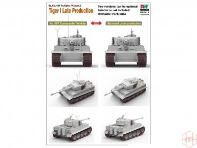 Rye Field Model - Sd.Kfz. 181 Pz.kpfw.VI Ausf. E Tiger I Late Production, Scale: 1/35, RFM-5015 4