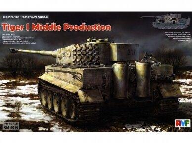 Rye Field Model - Sd.Kfz. 181 Pz.kpfw.VI Ausf. E Tiger I Middle Production su pilnu interjeru, Mastelis: 1/35, RFM-5010