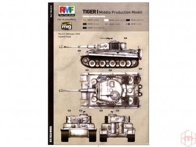 Rye Field Model - Sd.Kfz. 181 Pz.kpfw.VI Ausf. E Tiger I Middle Production su pilnu interjeru, Mastelis: 1/35, RFM-5010 13