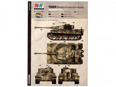Rye Field Model - Sd.Kfz. 181 Pz.kpfw.VI Ausf. E Tiger I Middle Production su pilnu interjeru, Mastelis: 1/35, RFM-5010 14
