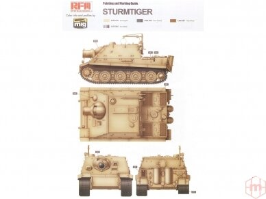 Rye Field Model - Sturmmorser Tiger RM61 L/5,4 / 38 cm With Full Interior, Mastelis: 1/35, RFM-5012 12