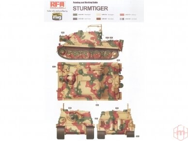 Rye Field Model - Sturmmorser Tiger RM61 L/5,4 / 38 cm With Full Interior, Mastelis: 1/35, RFM-5012 13