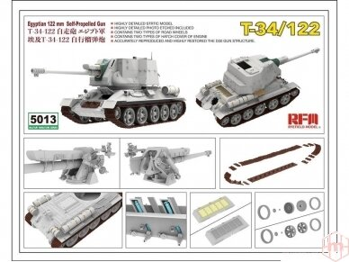 Rye Field Model - T-34/122 Egyptian, Mastelis: 1/35, RFM-5013 2