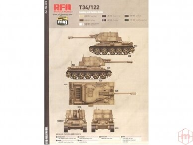 Rye Field Model - T-34/122 Egyptian, Mastelis: 1/35, RFM-5013 11