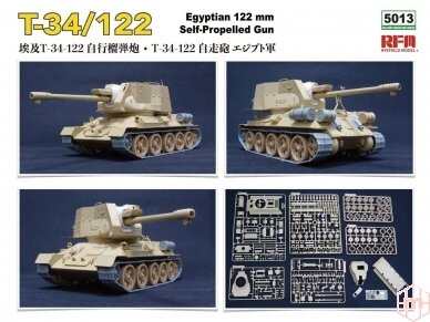 Rye Field Model - T-34/122 Egyptian, Mastelis: 1/35, RFM-5013 3