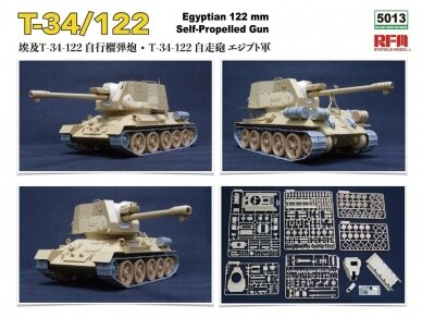Rye Field Model - T-34/122 Egyptian, Mastelis: 1/35, RFM-5013 3