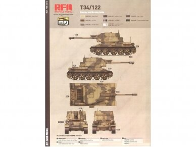 Rye Field Model - T-34/122 Egyptian, Mastelis: 1/35, RFM-5013 10