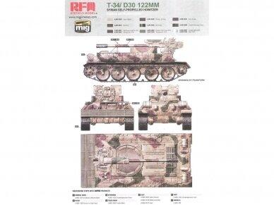 Rye Field Model - T-34/D30 122mm Syrian Self-Propelled Howitzer, Scale: 1/35, RFM-5030 10