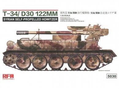Rye Field Model - T-34/D30 122mm Syrian Self-Propelled Howitzer, Scale: 1/35, RFM-5030