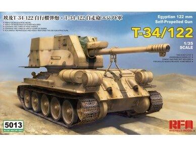 Rye Field Model - T-34/122 Egyptian, Mastelis: 1/35, RFM-5013