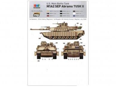 Rye Field Model - U.S. Main Battle Tank M1A2 SEP Abrams TUSK I / TUSK II / M1A1 TUSK, Mastelis: 1/35, RFM-5004 12