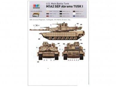 Rye Field Model - U.S. Main Battle Tank M1A2 SEP Abrams TUSK I / TUSK II / M1A1 TUSK, Mastelis: 1/35, RFM-5004 13