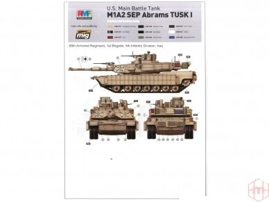 Rye Field Model - U.S. Main Battle Tank M1A2 SEP Abrams TUSK I / TUSK II / M1A1 TUSK, Scale: 1/35, RFM-5004 13