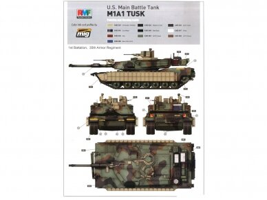 Rye Field Model - U.S. Main Battle Tank M1A2 SEP Abrams TUSK I / TUSK II / M1A1 TUSK, Scale: 1/35, RFM-5004 14