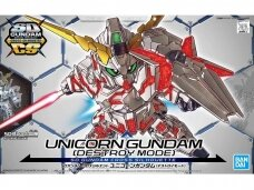 Bandai - SD Gundam Cross Silhouette Unicorn Gundam (Destroy Mode), 57691