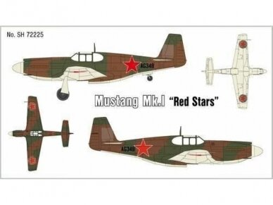 "Special Hobby - Mustang Mk.I ""Red Stars"", Mastelis: 1/72, 72225"