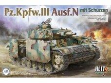 Takom - Pz.Kpfw.III Ausf.N mit schürzen, Mastelis: 1/35, 8005