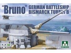 """Takom - """"Bruno"""" German Battleship Bismarck turret B, Mastelis: 1/72, 5012"""