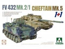 Takom - FV432 Mk.2/1 Chieftain Mk. 5 1+1, 1/72, 5008