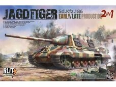 Takom - Sd.Kfz.186 Jagdtiger Early/Late Production (2 in 1), Mastelis: 1/35, 8001