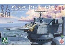 Takom - Battleship Yamato 15.5 cm/60 3rd Year Type Gun Turret, 1/35, 2144