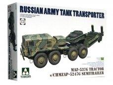 Takom - MAZ-537G Tractor w/ CHMZAP-5247G Semitrailer, 1/72, 5004