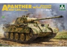 Takom - Panther A Mid-Late Production Zimmerit w/Full Interior, 1/35, 2100