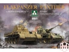 "Takom - Flakpanzer Panther 2in1: 20mm Flakvierling MG 151/20 and ""Coelian"" with 37mm Flakzwilling 341, Mastelis: 1/35, 2105"