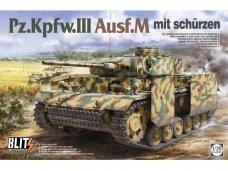 Takom - Pz.Kpfw.III Ausf.M mit schürzen, Mastelis: 1/35, 8002