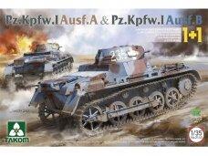 Takom - Pz.Kpfw. I Ausf. A & Pz.Kpfw. I Ausf. B 1+1, 1/35, 2145