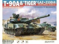 "Suyata - T-90A Main Battle Tank & ""Tiger"" Gaz-233014 Armoured Vehicle 2 in 1 set, 1/48, NO002"