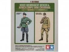 Tamiya - WWII Wehrmacht Officer & Africa Corps Tank Crewman (2-Figure Set), 1/35, 25154