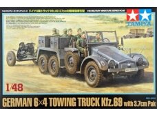 Tamiya - German 6x4 Towing Truck Kfz.69 with 3.7cm Pak, Scale: 1/48, 32580