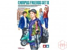 Tamiya - Campus Friends Set 2 (plus scooter), Scale: 1/24, 24356