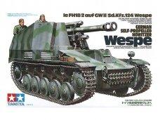 Tamiya - German self-propelled Howitzer Sd.Kfz.124 Wespe, Mastelis: 1/35, 35200