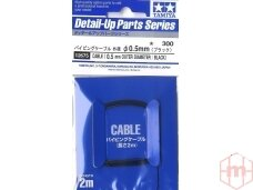 Tamiya - Cable (Outer Dia 0.5mm/Black), 12675