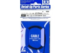 Tamiya - Cable (Outer Dia 0.8mm/Black), 12677