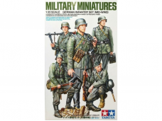 Tamiya - German Infantry Set (Mid-WWII), Scale: 1/35, 35371