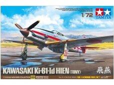 Tamiya - Kawasaki Ki-61-Id Hien (Tony) su kamufliažo dekalėmis, Mastelis: 1/72, 60789+12683