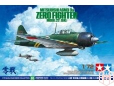 Tamiya - Mitsubishi A6M3/3a Zero Fighter Model 22 (Zeke), Mastelis: 1/72, 60785
