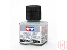 Tamiya - Panel line accent color Light Grey, 40ml, 87189